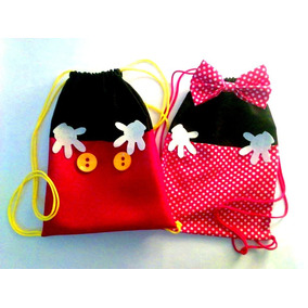 Mochilitas Mickey Minnie Mouse Cumpleaños Hermosas X10u!!