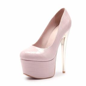 Sapato Feminino Salto Alto 109429 Grande Até 44 Plus Size 43
