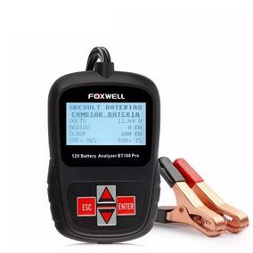 Teste Eletrônico De Baterias Automotiva Foxwell Bt100 Pro