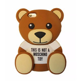 Capinha Capa Case Iphone 7 Urso Mochino Luxo Teddy 3d