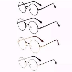 Armação Óculos De Grau - Redondo Ozzy Metal Retrô Vintage