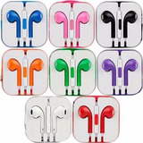 Audifonos Tipo Earpods Control Volumen Iphone Ipod Colores