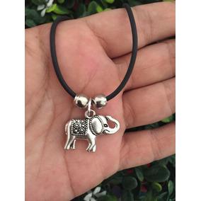 Collar Elefante Con Tapete Hindu Yoga Buena Suerte Circo