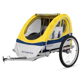 Remolque Para Bicicleta Schwinn Echo Doble Amarillo