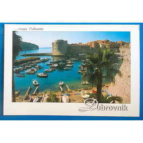 V 9155 Cartao Postal Croacia Praia Barco Mar