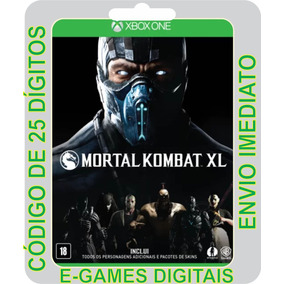 Mortal Kombat Xl Xbox One Codigos 25 Dígitos