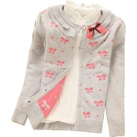 Sweater De Flores De Algodón Niña Talla 11 - 75