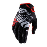 Guantes 100% Ridefit Ss17 Black / Red Gloves L