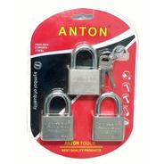Set 3 Candados Anton Acero 50mm