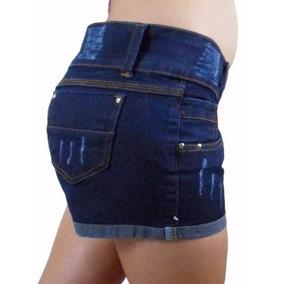 Kit 3 Shorts Jeans Hot Pants Lycra Até 52 Plus Size Atacado
