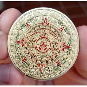 Moeda Calendário Asteca - Poker Guard - Banhada!
