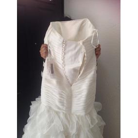 Vestido De Novia Chifón Y Accesorios Talla 9 Ángela Betasi