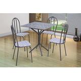 Conjunto Thais Mesas E 4 Cadeiras Jogo Para Cozinha Jantar