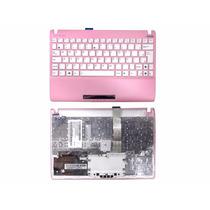 Teclado + Moldura Netbook Asus Eee Pc 1025 Flare Rosa Br Ç