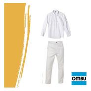 Kit Pantalón + Camisa De Trabajo Ombu  Blanco Original