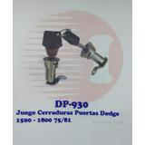 Par Cerraduras De Puerta Dodge 1500/1800 Modelos 75/81
