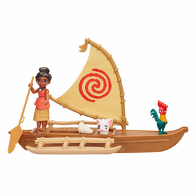 Boneca Mini Moana Com Canoa - Original - Pronta Entrega