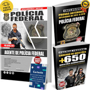 Kit Apostila Pf Agente Polícia Federal + Questões + Provas