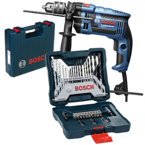 Furadeira Industrial 1/2 Gsb 16re 750w + Kit 30 Pcs Bosch