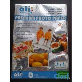 Papel Fotografico Ati 108 Gramos Paquete 50 Hojas