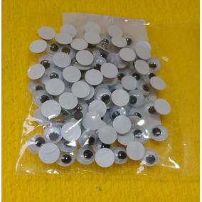 Olhos Móvel De Plástico P/ Artesanato 7mm - Frete Grátis