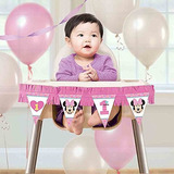 1r Cumpleaños Minnie Mouse High Chair Decoración Kit Parte