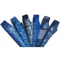 Kit Com 6 Leg Fake Imita Jeans Legging - Promoção Revenda