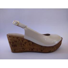 Zapato Sandalia Cuero Mujer Taco Entero