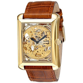 Reloj Automático De Oro Akr426yg Bravura Esqueleto Akribos