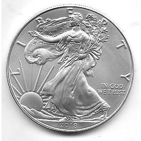 Moneda Estados Unidos 1 Onza Plata Año 2018 Sin Circular