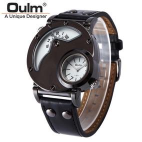 Reloj Oulm Lujo Elegante Doble Cara Militar Envio Gratis