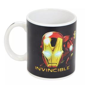 Caneca Mágica Zona Criativa - Avengers Homem De Ferro 300 Ml