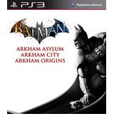 Batman Arkham Collection Ps3 Digital Asylum + City + Origins
