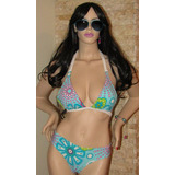 Bikini Para Dama T/s Diseño Único Lycra Colombiana C/relleno