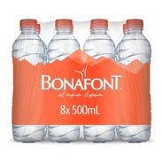 Agua Bonafont Natural Pack 8 Botellas 500 Ml C/u