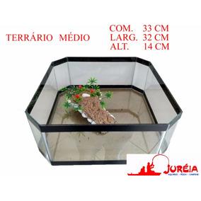 Aquario Terrario Bacia Quadrada Para Tartaruga Tam. Médio