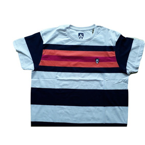 Camiseta Masculina Listrada 100% Algodão Bs-45