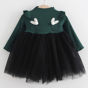 Vestidos Bebe Manga Larga Conejo
