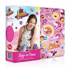 Juego De Sábana Soy Luna Disney Piñata 1 1/2 Plaza