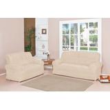Capa De Sofa 2x3 Lugares Elasticada 21 Elástico Palha