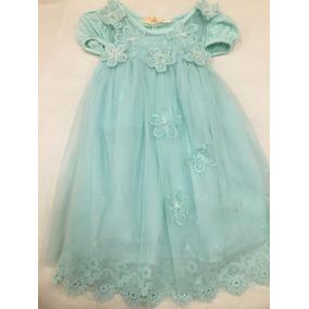 Vestido De Criança Infantil Menina 1-3 Anos Flor