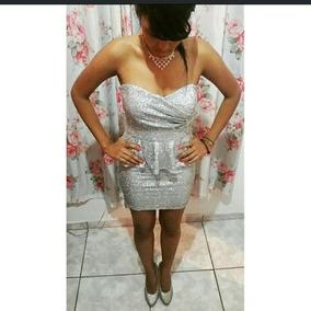 Vestido Prateado Com Gliter, Para 15 Anos E Noivas