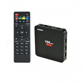 Smart Tv Box V88 4k Android Kodi 8g Quad Core Pronta Entrega