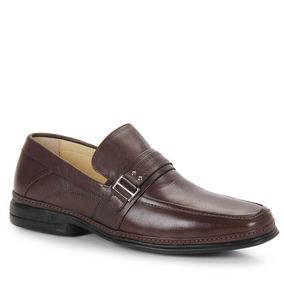 Sapato Social Conforto Masculino Perfetto - Marrom