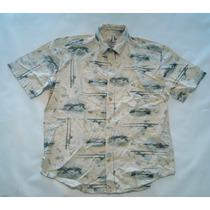 Camisa Hawaiana Tropical Floreada Pesca Verano Hombre Xl