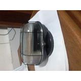 Luminária Tipo Tartaruga Oval C/ Grad E27 Pt Ferro C/vidro