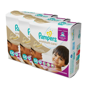 Kit Com 3 Fraldas Pampers Premium Care Xxg Com 96 Unidades