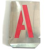 Letras Caladas De Chapa Para Pintar 120mm Stencil Abecedario