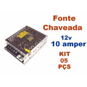 Kit C/ 5 Fonte Chaveada 12v 10 Amperes - Colmeia