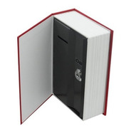 Caja Valor Camuflaje Forma De Libro Plastico 18 Cm Seguridad